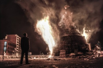 The bonfires burn. Belfast