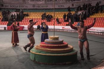Mongolian wrestling ceremony