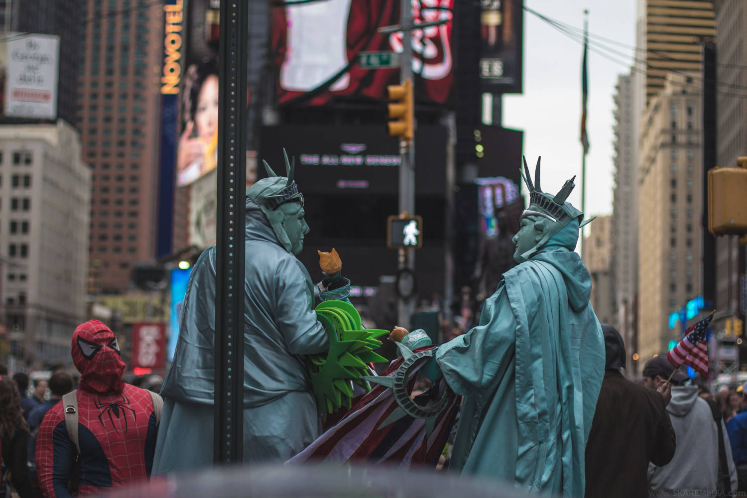 Spidey and Lady Liberties, NYC
