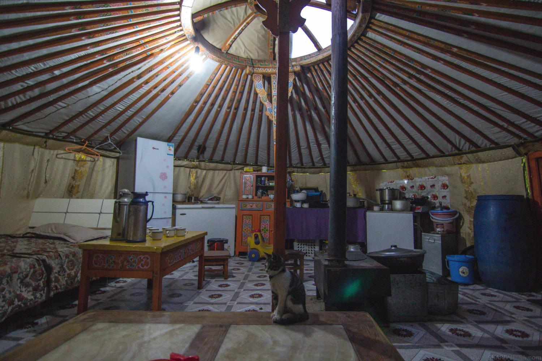 Mongolian family's Ger