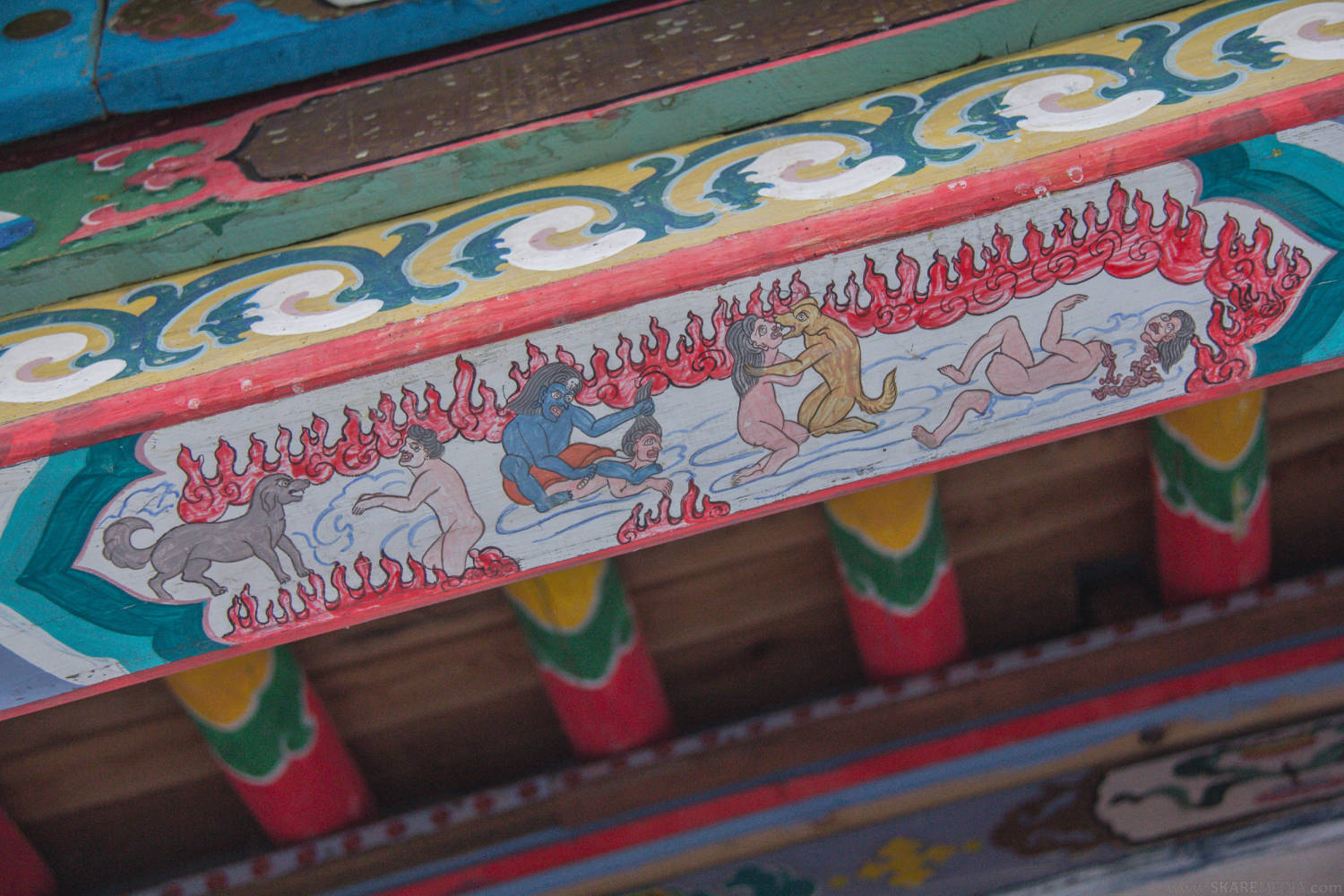 Buddhist temple artwork